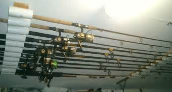 Ceiling Mount Fishing Rod Holders by Diy Fishing Rod Holder Instructions