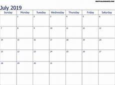 july 2019 calendar printable monthly printable calendar