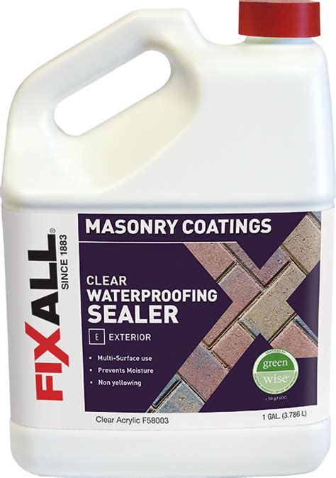 clear waterproofing sealer fixall paint