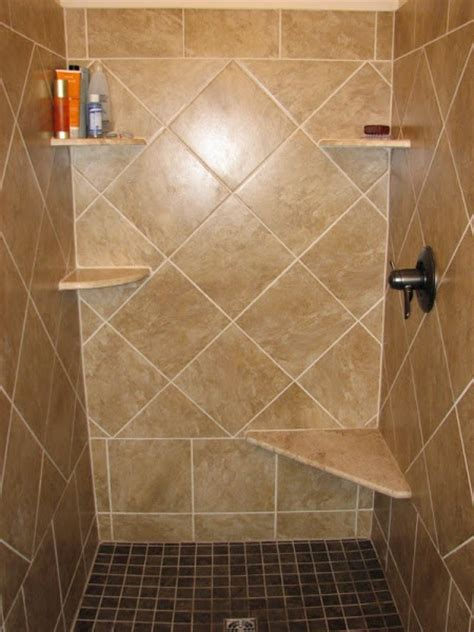 bathroom bench ideas shower tile designs casual cottage