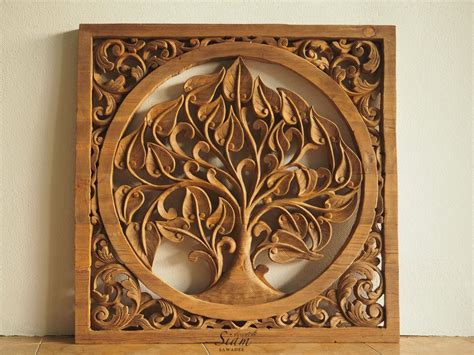 Real natural walnut, teak, oak, acacia and ash wood wall paneling available. Tree of life Hand Carved Wall Art Panel. Natural Teak Carved Wood Paneling. Wall Sculpture for ...