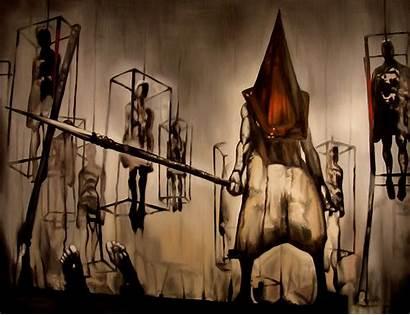 Head Pyramid Silent Hill Evil Wallpapers Dark