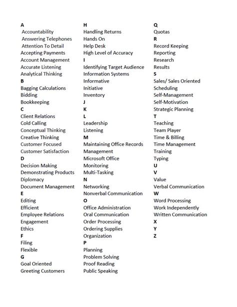 List Of Different Skills For Resume by 17 Best Images About Work On Sheets Illustrators And Adobe