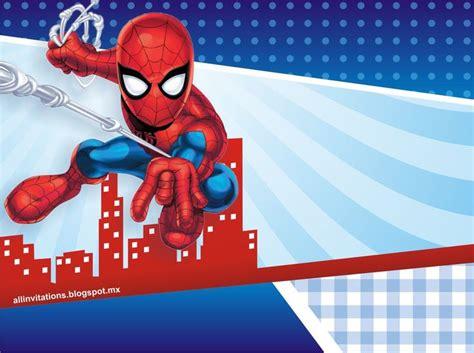 invitaciones de cumpleanos de spiderman  fondo de