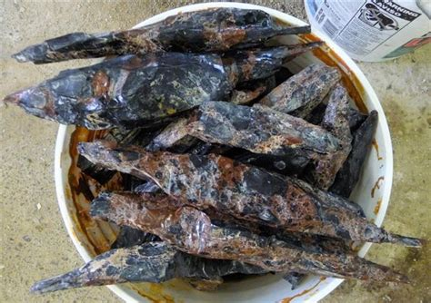 knapping materials obsidian needles for sale