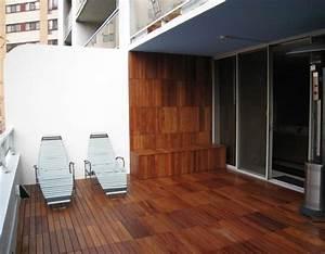 Chaise Longue Balcon : caillebotis bois 50 exemples pour votre espace ext rieur ~ Teatrodelosmanantiales.com Idées de Décoration