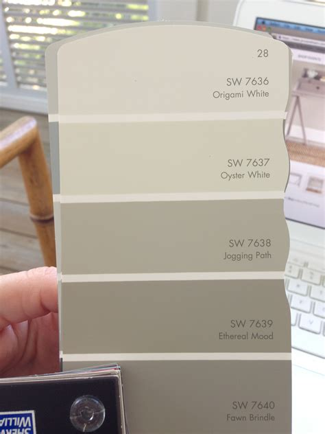 sw ethereal mood paint card oyster white for brick