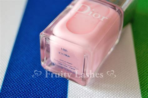 Dior Nail Lacquer Icy Pink, Icy White Swatch And Review