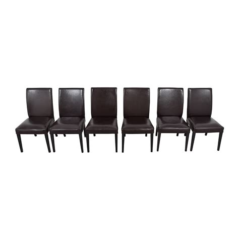 69% Off  Ikea Ikea Brown Leather Dining Chairs Chairs