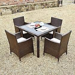 new 5 piece rattan dining table for conservatory patio