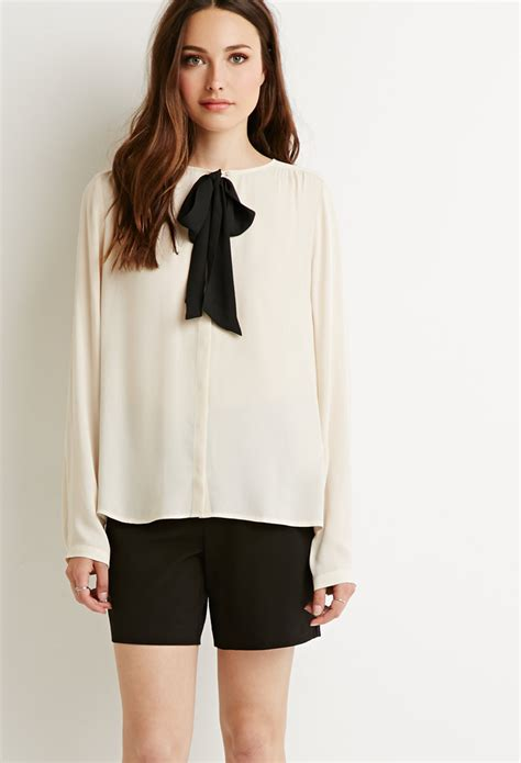 bow neck blouse forever 21 contemporary bow neck blouse in beige beige