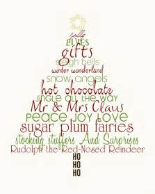 christmas tree word art art pinterest