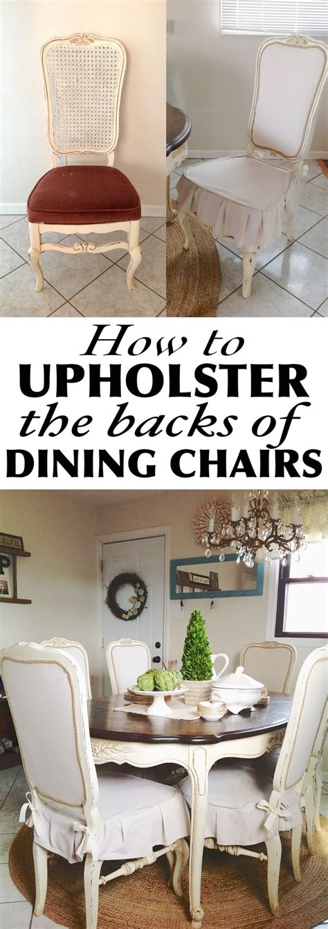 How To Upholster A Chair by How To Upholster The Back Of Dining Chairs Shades Of