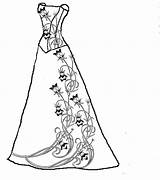 Coloring Pages Dresses Clipart Fancy Prom Getdrawings Pretty Patterns Embroidery Evening Quilling Victorian Barbie Printable Adults Card Anji Antics Goes sketch template