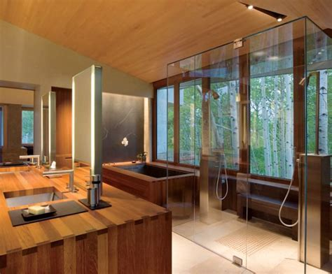 exquisite japanese bathroom  loads  space  green