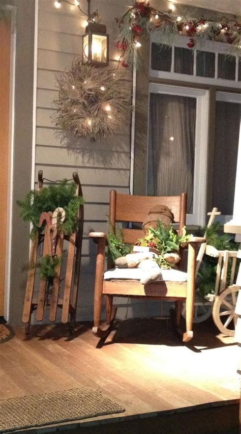 Rustic Christmas Porch Love The Sleigh