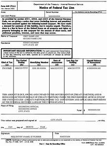 5127 notice of lien preparation and filing internal With irs levy release letter