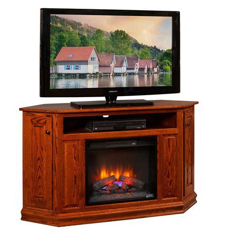 corner tv stand   fireplace insert amish