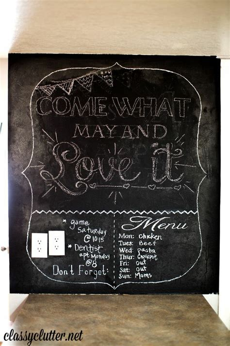 chalkboard kitchen wall ideas kitchen updates for 400 and dining room part 2