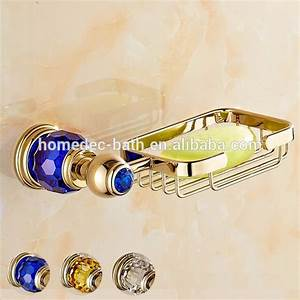 gold color bathroom accessories wall mounted brass soap With gold coloured bathroom fittings