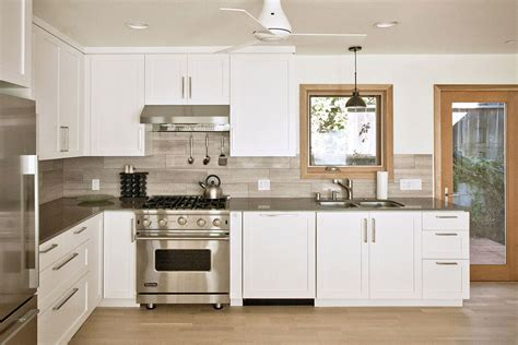 Limestone Backsplash Kitchen by Contemporary Custom Kitchen With Quartz Counters