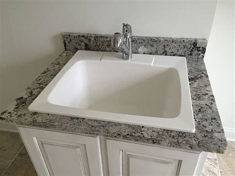 Alaska White Granite laundry sink