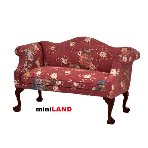 queen anne sofa and loveseat queen anne love seat sofa for 1 12 scale dollhouse