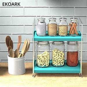 2, Tier, Stackable, Spice, Storage, Rack, Shelf, Free, Standing, Cabinet, U0026, Counter, Organizer, Rustproof