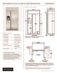 ge monogram zissdkss   counter depth side  side refrigerator   cu ft