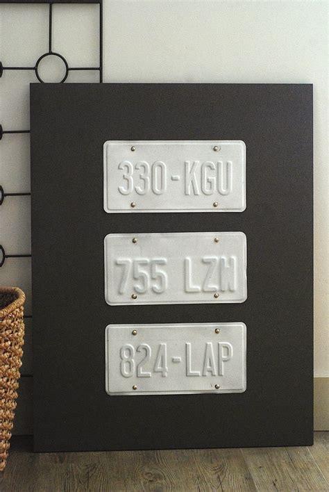 license plate wall art  crafty blog stalker