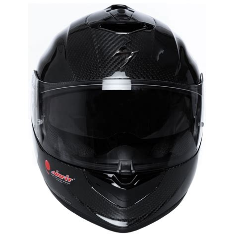 scorpion exo  carbon air solid helmet motocard