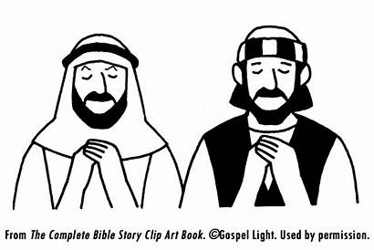 Pharisee Tax Coloring Bible Collector Parable Jesus