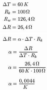 Physik Widerstand Berechnen : temperatur widerst nde temperaturabh ngig ~ Themetempest.com Abrechnung