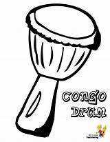 Coloring Musical Pages Drum Drums Music Printables Congo Djembe African Africa Instruments Colouring Instrument Boys Multicultural Yescoloring Lessons Mini Pounding sketch template