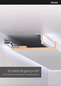 Knauf Abgehängte Decke : lunox schattenfugenprofil lichtvouten f r indirekte deckenbeleuchtung haus beleuchtung ~ Orissabook.com Haus und Dekorationen