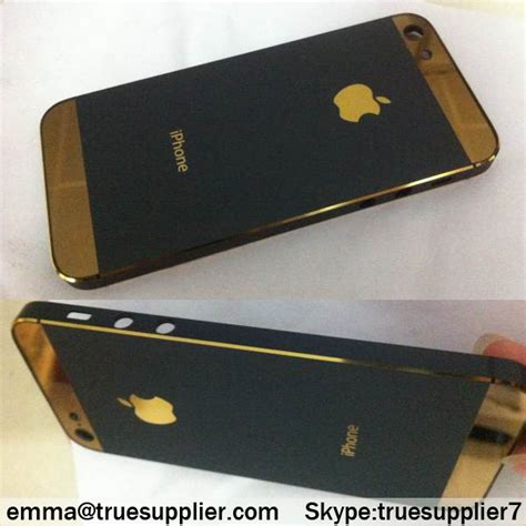 black and gold iphone black with gold logo apple iphone 5s back housing