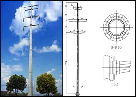 Low Voltage Engineer by Low Voltage Overhead Tubular Power Galvanized Steel Pole