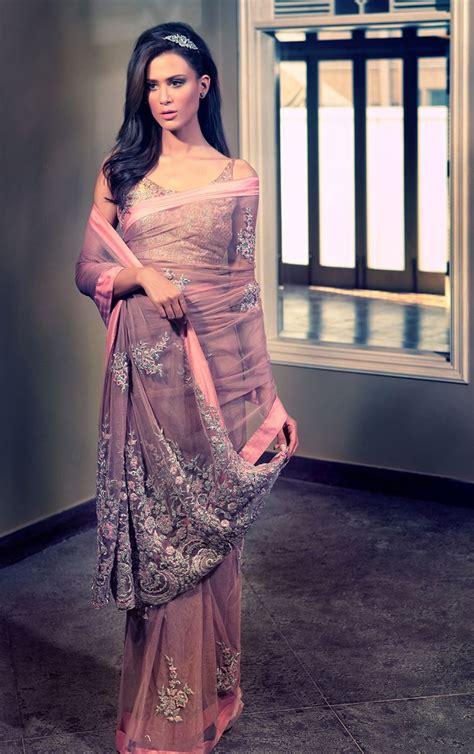 latest pakistani designer saree designs   women styleglowcom