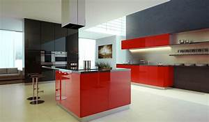 black white and red kitchens 2017 grasscloth wallpaper With black and red kitchen designs
