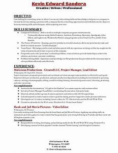 video editing resume resume ideas With video editor resume template download