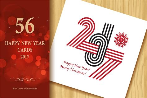 happy  year greeting cards graphics creative