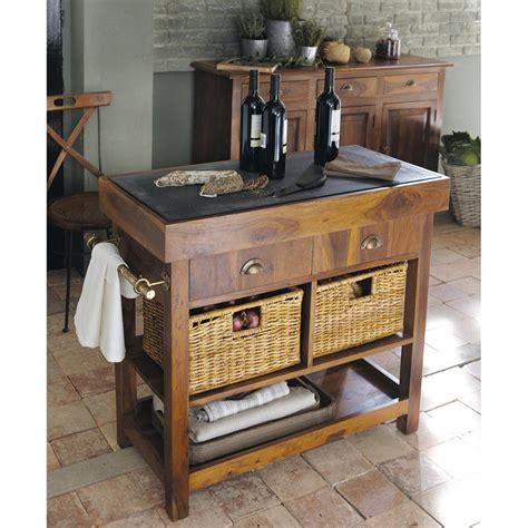 meuble de cuisine maison du monde billot en bois luberon meubles de cuisine maisons de