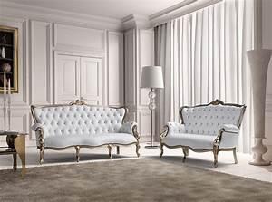 Estro, Salotti, Bach, Modern, White, Leather, Sofa, And, Loveseat, -, Estro, Italian, Seating