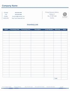 Inventory List Form