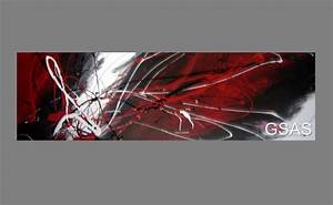 Huge abstract canvas painting wall art black white and