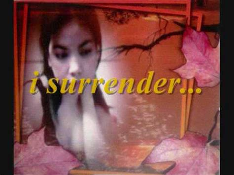 surrender celine dion  lyrics youtube