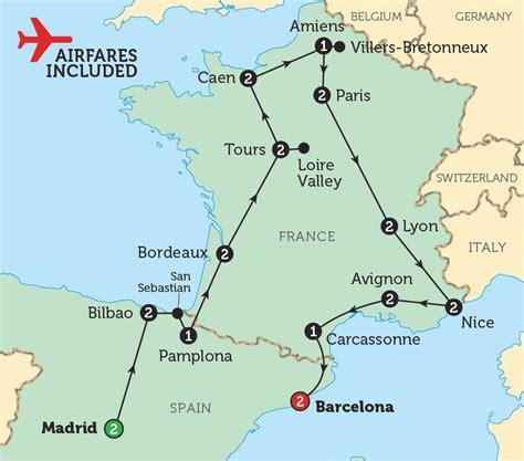 spain france map recana masana