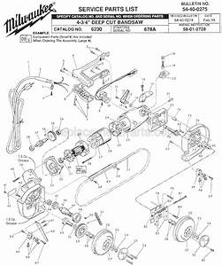 Milwaukee 6230 Parts List And Diagram
