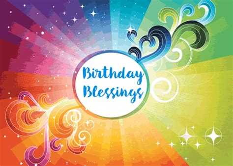 twinkling rainbow birthday blessings  birthday