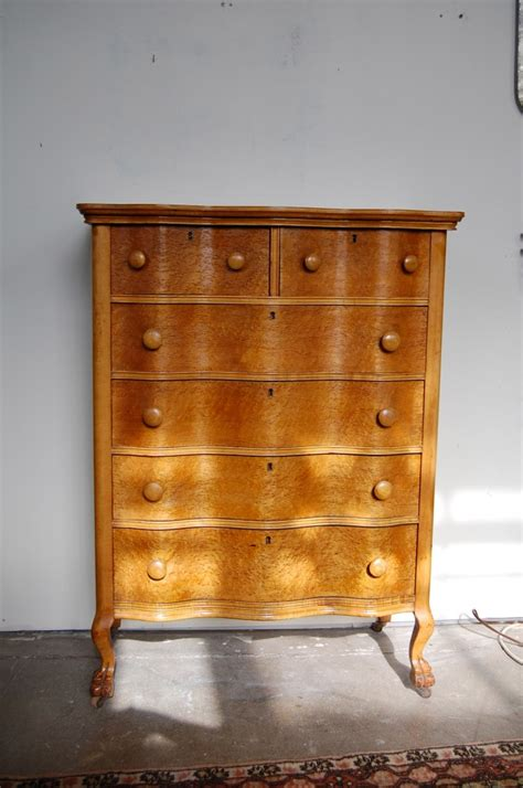 birdseye maple serpentine dresser serpentine birdseye maple burl highboy dresser circa 1890